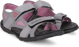 Reebok Women FLAT GREY/PINK/GRAVEL Sports Sandals