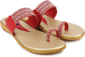 Ortan Women Red Flats