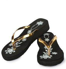 Moonwalk Women Gold Wedges