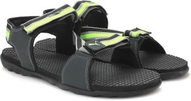 Puma Men Puma Black-Asphalt-Safety Yellow Sports Sandals