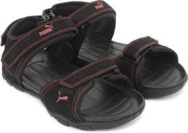 Puma Men Puma Black-High Risk Red Sports Sandals