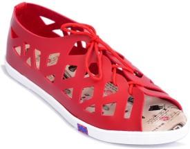 Myra Women Crimson Flats