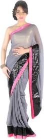ram fashion self design fashion georgette saree(multicolor)