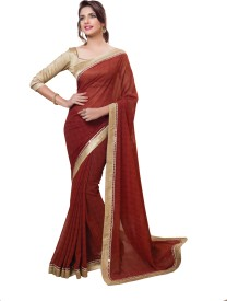 palav fabrics printed bollywood georgette, georgette saree(brown)