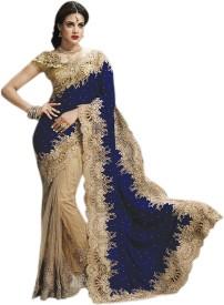 aksh fashion self design fashion velvet, net saree