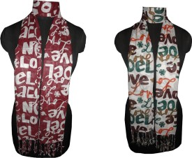 Dream Fashion Printed Rayon Women's Scarf