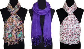 Urban-Trendz Printed Poly/Viscose - Scarves (Set of 3pcs) Women's Scarf