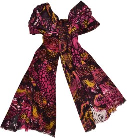 Beleza Printed, Animal Print Viscose Women's Stole