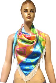 Sam Inc. Graphic Print 100% Satin Women's Scarf
