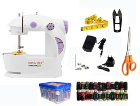 Creativevia JH-44 Mini Portable & Compact Electric Sewing Machine (With Accessories)