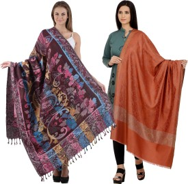 Christy's Collection Poly Cotton Self Design Women's Shawl
