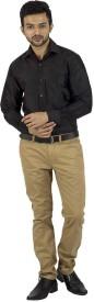 Khoday Williams Men's Solid Formal Black Shirt
