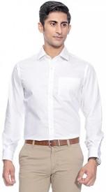 SWISSCOTT Men Solid Formal White Shirt