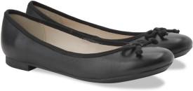 Clarks CAROUSEL RIDE BLACK LEATHER Slip On shoes(Black)