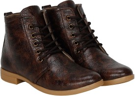 Kraasa RockSolid Boots, Corporate Casuals, Outdoors, Party Wear(Brown)