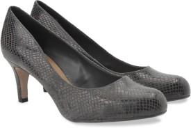 Clarks Arista Abe Dark Grey Syn Slip On shoes(Grey)