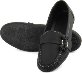 Tashi Smart Black Loafers(Black)