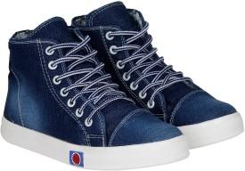 Kraasa StepUp Boots, Party Wear, Sneakers(Navy)