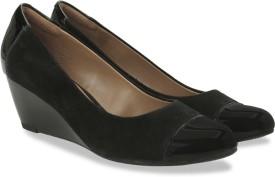 Clarks Brielle Chanel Black Combi Sde Slip On shoes(Black)