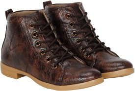 Kraasa Decent Boots, Boat Shoes, Corporate Casuals, Casuals(Brown)