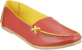 Mochi Stylish Loafers(Red)