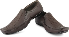 APF Brown Formal Slip On