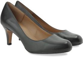 Clarks ARISTA ABE BLACK LEATHER Slip On shoes(Black)