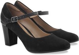 Clarks Bavette Cathy Black Combi Sde Slip On shoes(Black)