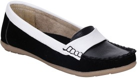 Mappy Gudiya Loafers(White, Black)