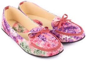 Myra Floral Print Loafers(Multicolor)