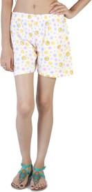FabPoppy Printed Women's Multicolor Basic Shorts