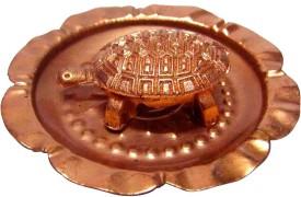 Vastu arcade Vstu Metal Tortoise In Plate Showpiece - 7 cm
