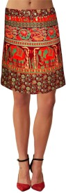 Sttoffa Printed Women's Wrap Around Skirt