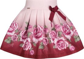 5bc11bed42 Cutecumber Floral Print Girls A-line Multicolor Skirt