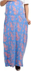 9teenAGAIN Printed Women's Straight Blue Skirt