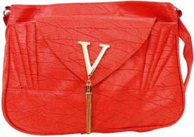 Estoss Women Orange PU Sling Bag