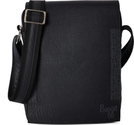 Baggit Men Black Rexine Sling Bag