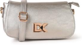 Diana Korr Women Silver PU Sling Bag
