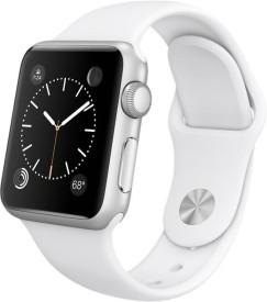Apple Watch Sport Silver Aluminium case white sport Band 38mm
