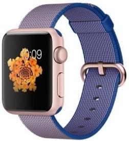 Apple Watch Sport Rose gold Aluminium case Royal Blue Woven Nylon Rose Gold 38mm