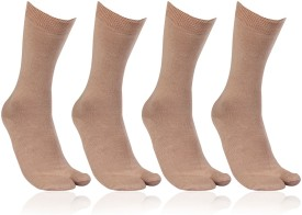 Bonjour Women's Solid Crew Length Socks