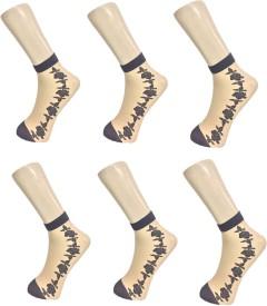 Unitedway Women's Self Design Ankle Length Socks