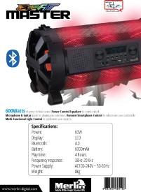 Merlin Beat Master Bluetooth Speaker