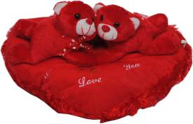 Trimurti Imported Fur Cute Rabbits on Heart - 30
