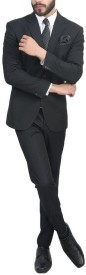 Bsquare Black Single Breasted Solid Men's Suit