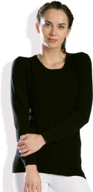 HRX by Hrithik Roshan Solid Round Neck Casual Women Black Sweater