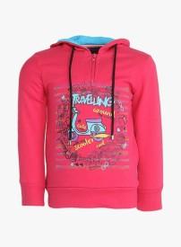 Cool Quotient Full Sleeve Self Design Baby Girl's Sweatshirt