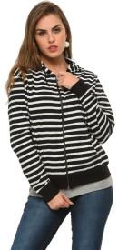 Frenchtrendz Full Sleeve Striped Women's Sweatshirt