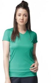 2Go Solid Women's V-neck Light Blue T-Shirt
