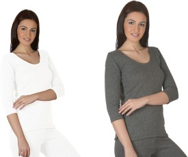 Jiyana Secrecy and Divine Thermals Pack of 2 Women's Top